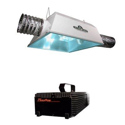 Hydrofarm Radiant 6 Air Cooled Reflector & Phantom Dimmable Digital Ballast Grow Light Combo 250W phantom page light