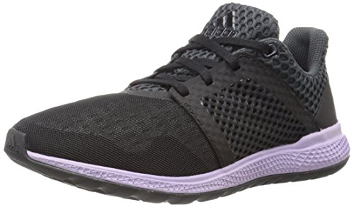 Adidas Performance Women's Energy Bounce 2.0 Running Shoe,Black/Black/Glow Purple,8.5 M US
