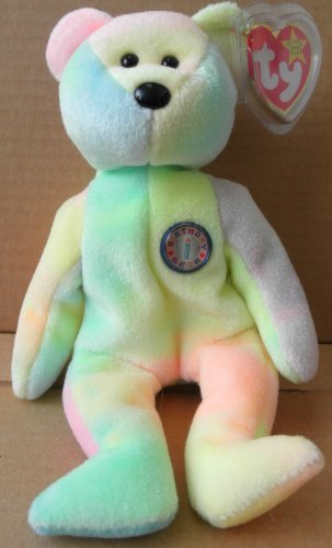 TY Beanie Babies Birthday Bear Plush Toy Stuffed Animal b.b. bear you write in th birthdate! - 1