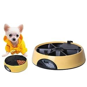 Floureon® Distributeur de croquettes Pet Feeder Automatique 5-L de 6 repas par jour