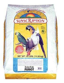 Cheap Bird Supplies Parrot Sun Fun Mix 25Lb (BSS44115)