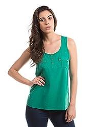 Shuffle Women's Pocket Detail Shirt (1021503601_Green_X-Small)
