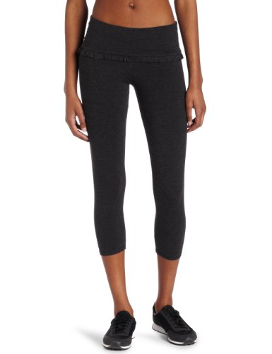 SOLOW Women's Ruffle Legging Pant, Heather Charcoal, Large