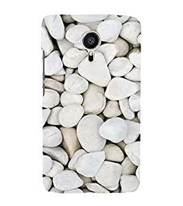 Beautiful White Stones 3D Hard Polycarbonate Designer Back Case Cover for Meizu MX5