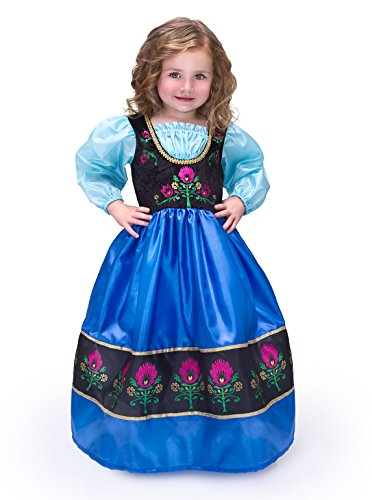 Little Adventures Traditional Scandinavian Princess Girls Machine Washable Dress-up Costume