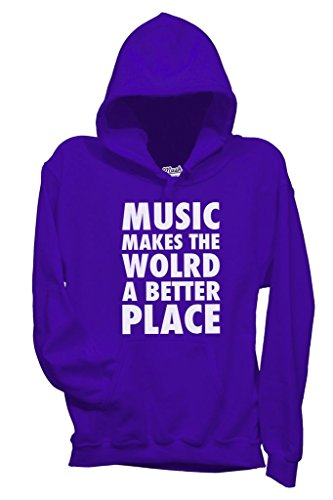Felpa MUSIC MAKES THE WORLD A BETTER PLACE - MUSIC by MUSH Dress Your Style - Uomo-M-VIOLA