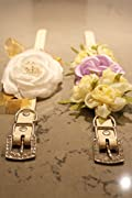 Dog Wedding Floral Collar Necklace - White and Gold