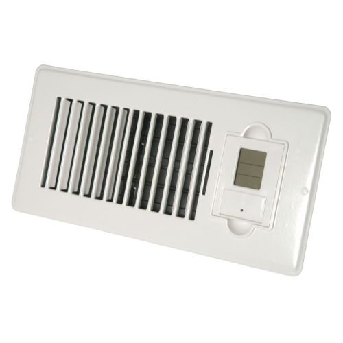Vent-Miser 91665 Programmable Enery Saving Vent, 12-by-4-Inches, White