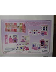 toy barbie size doll house dollhouse furniture 5 rooms w lights and sound barbie dollhouse furniture sets