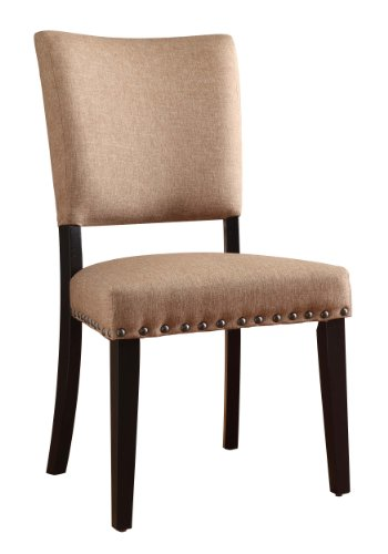 Homelegance 2555S Dining Chair, Neutral Fabric, Set Of 2 front-640780