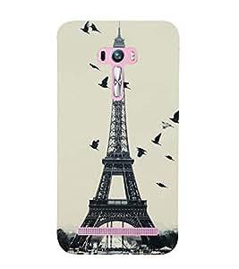 Vizagbeats birds over eiffel tower Back Case Cover for Asus Zenfone Go::Asus Zenfone Go ZC500TG