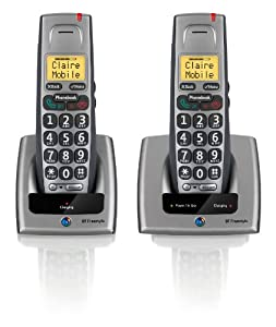 BT Freestyle 710 Twin DECT Phone - Titanium Grey