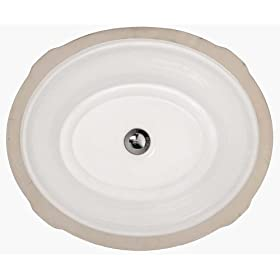 American Standard 0632.000.020 Tudor Vitreous China Undercounter Sink, White