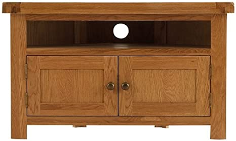 Pembrooke oak furniture corner TV unit, cabinet, stand