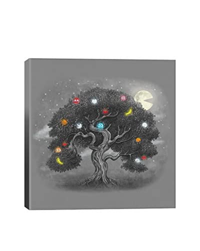 Terry Fan Midnight Snack Square Gallery-Wrapped Canvas Print