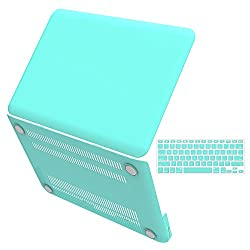 iBenzer? - 2 in 1 Multi colors Soft-Touch Plastic Hard Case Cover & Keyboard Cover for Macbook Pro 13'', Turquoise MMP13TBL +1