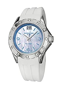 Raymond Weil Spirit Ladies Watch with Mother-of-Pearl Dial and White Rubber Strap 8170-SR3-05997