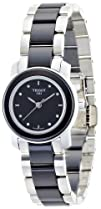 Tissot Womens T0642102205600 Cera Black Dial Diamond-Accented