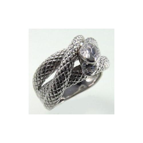 スネークリング指輪開運白蛇リング・シグニティーキュービックジルコニア・ホワイトゴールドリング