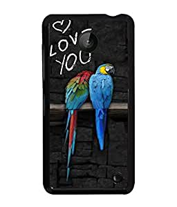 PrintVisa Metal Printed Quotes Designer Back Case Cover for Nokia Lumia 630-D4878