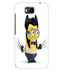 ColourCraft Funny Image Design Back Case Cover for HUAWEI HONOR BEE
