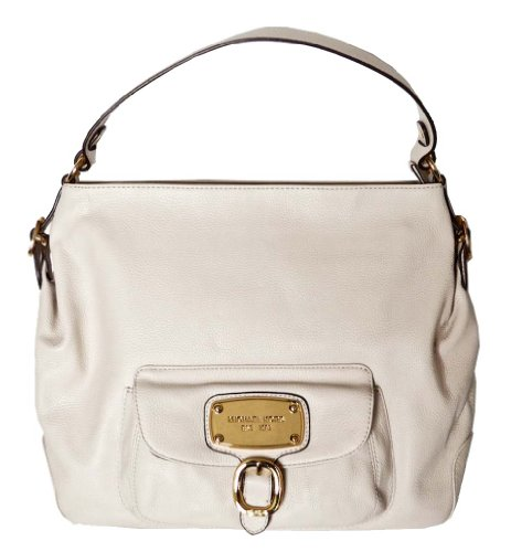 MICHAEL Michael Kors Michael Kors Handbag Vanilla Leather Hudson Downtown Large Shoulder Bag Tote Purse