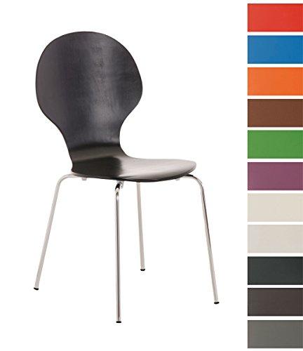 CLP-Stapel-Stuhl-DIEGO-mit-Holzsitz-robust-pflegeleicht-ergonomisch-geformter-Sitzflche-bis-zu-12-Farben-whlbar-schwarz