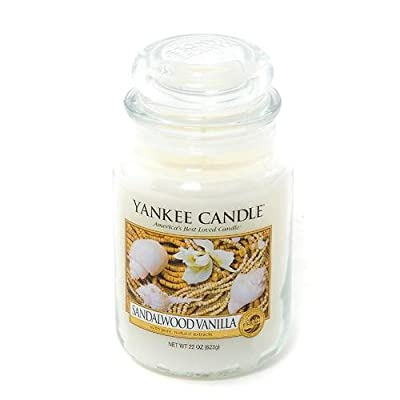Yankee Candle - Sandalwood Vanilla Scented Large Jar by Online Garden Centre
