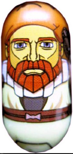 Mighty Beanz Star Wars - Single Bean - OBI-WAN KENOBI (Clone Wars) #63 - 1