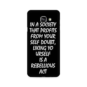 Ebby Live yourself Premium Printed Case For Samsung A710 2016 Version