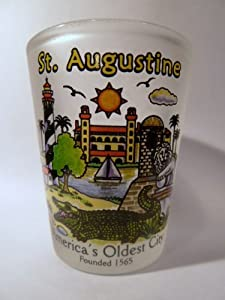 St.Augustine Florida Frosted Shot Glass