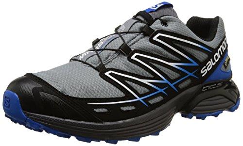 Salomon-Wings-Flyte-GTX-Herren-Traillaufschuhe-Grau-Pearl-GreyBlackUnion-Blue-44-23-EU-10-Herren-UK