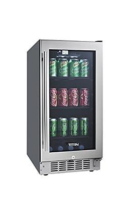 Titan TT-CBC1580SZ 80-Can Beverage Cooler SEAMLESS Stainless Steel