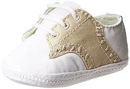 Baby Deer 2155 Crib Shoe (Infant),White/Tan,0 M US Infant