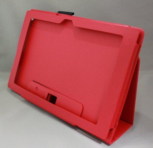 Homu HomuXperia Tablet Z SO-03E全11色PUレザーケース PUレザーカバー エクスペリアタブレットZ レザーケースレザーカバースタンド機能付 ペンホルダー付/SGP312JP (レッド)(24-2)