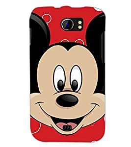 PrintDhaba Mickey Mouse D-2318 Back Case Cover for MICROMAX A110Q CANVAS 2 PLUS (Multi-Coloured)
