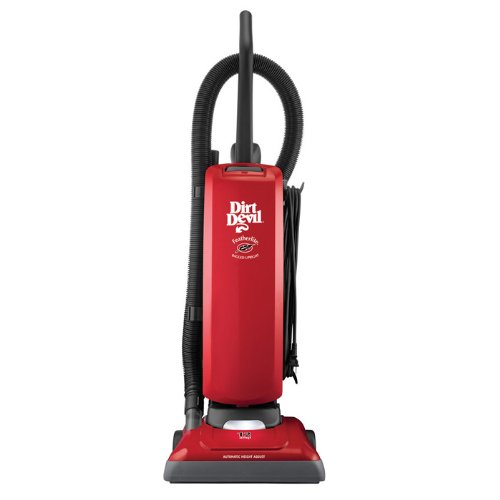 Featherlite Bagged Upright Vacuum Cleaner, Red-By Dirt Devil