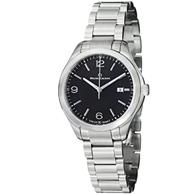 Maurice Lacroix Miros Ladies Black Dial Stainless Steel Watch MI1014-SS002-330 by Maurice Lacroix