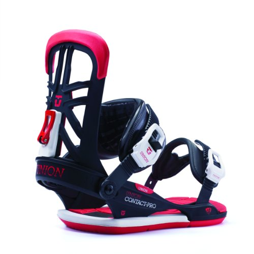 Union Mens Contact Pro Snowboard Bindings BlackRed ML