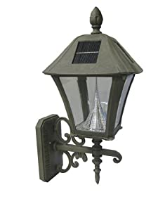 Gama Sonic Baytown Solar Outdoor LED Light Fixture, Wall Mount, Taupe