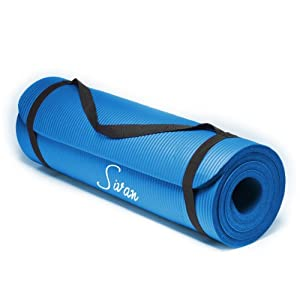Sivan Health and Fitness® NBR Yoga and Pilates Mat (Blue)