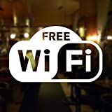 Free Wifi Shop Window Sign - Self-Adhesive Internet Hotspot Symbol