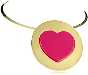 """Betsey Johnson """"Status"""" Large Heart Pendant Wire Necklace"""