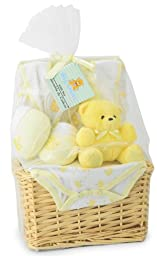 Big Oshi Baby Essentials 9-Piece Layette Basket Gift Set, Yellow, 0-6 Months
