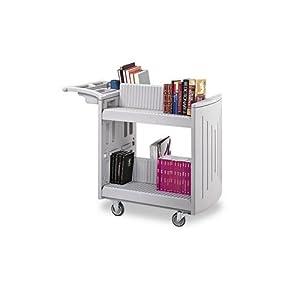 Safco 2-Shelf Molded Book Cart