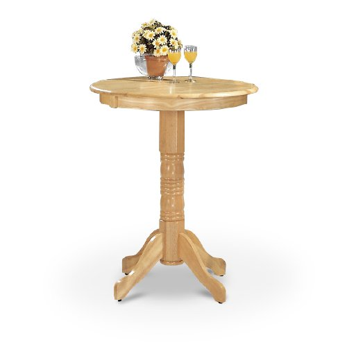 MAN CAVE New Wood Natural Finish Bistro Bar Pedestal Table