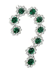 Cinderella Green Crystal EAR CUFF