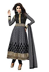Rajnandini Womens Georgette Anarkali Semi-Stitched Dress Material (Joplsalbela79 _Cream)