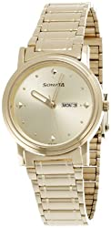 Sonata Analog Gold Dial Mens Watch - NC1141YM13