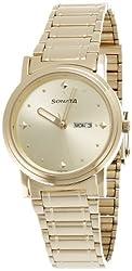 Sonata Analog Gold Dial Mens Watch - NC1141YM13